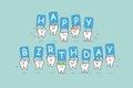 Cartoon tooth jump with billboard