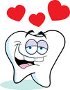 Cartoon tooth in love illustration of a Stock Images