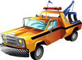Cartoon tow truck Stock Photography