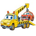 Cartoon tow truck evacuator