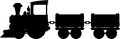 Cartoon Toy Train Silhouette