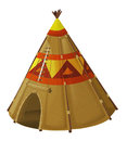 Cartoon traditional tent - tee pee - isolated
