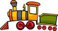 Cartoon train or locomotive Stock Photo