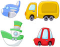 Cartoon transport set Stock Photography
