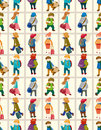 Cartoon travel people seamless pattern Royalty Free Stock Photography