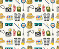Cartoon travel seamless pattern Stock Photography