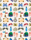 Cartoon travel seamless pattern Royalty Free Stock Photos