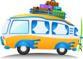 Cartoon travel van Stock Photography