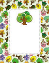 Cartoon tree card Royalty Free Stock Photo