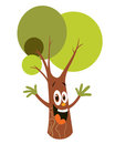 Cartoon tree character Stock Image