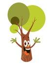 Cartoon tree character Royalty Free Stock Photo