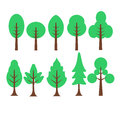 Cartoon tree graphi illustration vector eps Stock Photo