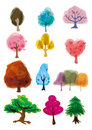 Cartoon tree icon Stock Photo