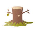 Cartoon tree stump illustration of a Stock Photo
