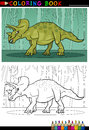 Cartoon triceratops dinosaur for coloring book Royalty Free Stock Photo