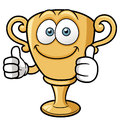 Cartoon trophy vector illustration of Royalty Free Stock Image