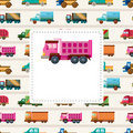 Cartoon truck card Royalty Free Stock Images