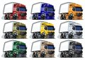 Cartoon trucks set Royalty Free Stock Image
