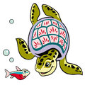 Cartoon turtle Royalty Free Stock Images