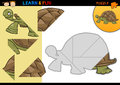 Cartoon turtle puzzle game Stock Photo