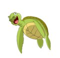 Cartoon turtle vector image of funny smiling Stock Photography