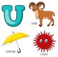Cartoon U alphabet