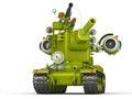 Cartoon Ultra Tank. 3D Illustration.