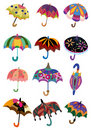 Cartoon Umbrellas icon Royalty Free Stock Photography