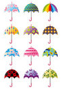 Cartoon Umbrellas icon Stock Images