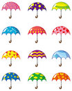 Cartoon umbrellas icon Stock Photos