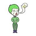 cartoon undead woman Royalty Free Stock Photo