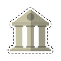 Cartoon university building style temple