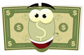 Cartoon US Dollar Character Royalty Free Stock Photo