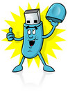 Cartoon USB Stick Royalty Free Stock Image
