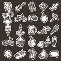 Cartoon vacation icons