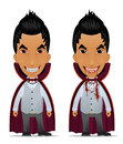 Cartoon vampires set Royalty Free Stock Images