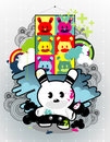 Cartoon vector composition Royalty Free Stock Photo