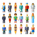 Cartoon vector flat people different characters