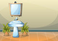 Cartoon vector illustration interior bathroom Royalty Free Stock Photo