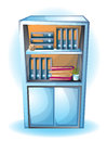 Cartoon vector illustration interior office room with separated layers Royalty Free Stock Photo
