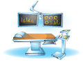 Cartoon vector illustration interior surgery operation room with separated layers Royalty Free Stock Photo
