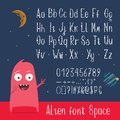 English ABC letters, numbers and symbols vector