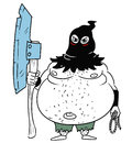 Cartoon Vector Medieval Fantasy Executioner Hangman with Axe and Royalty Free Stock Photo