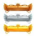 Cartoon vector title banners set