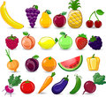 Cartoon vegetables and fruits,vector Royalty Free Stock Photo
