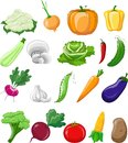 Cartoon vegetables,vector Royalty Free Stock Photo