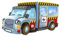 Cartoon vehicle electricity car isolated