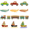 Cartoon vehicles Royalty Free Stock Photo