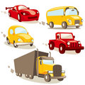 Cartoon vehicles, isolated Royalty Free Stock Photo