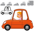 Cartoon vehicles series Royalty Free Stock Images